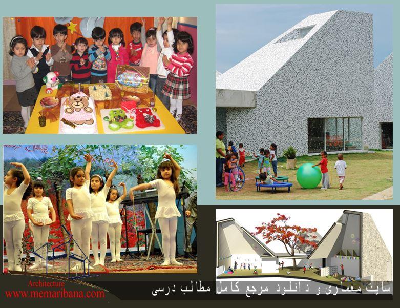 دانلود رساله معماری و مطالعات کامل خانه کودک