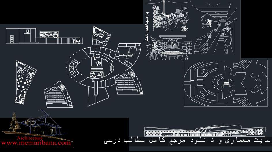 دانلود نقشه کامل طراحی ورزشگاه همراه باپرسپکتیو های اتوکدی