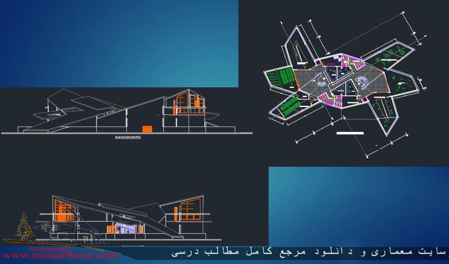 دانلود نقشه رایگان پلان اتوکدی طراحی موزه
