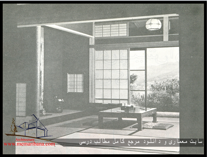 تصویر121- فضای داخلی یک خانة ژاپنی .