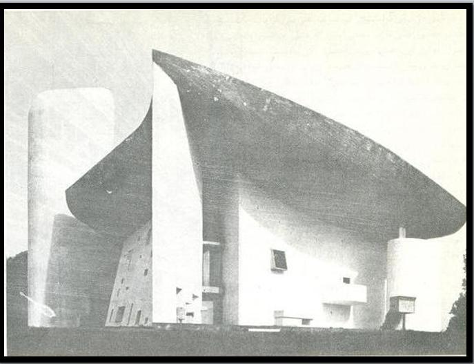 تصویر 104- لوکوربوزیه ، کلیسای نوتردام دوهو