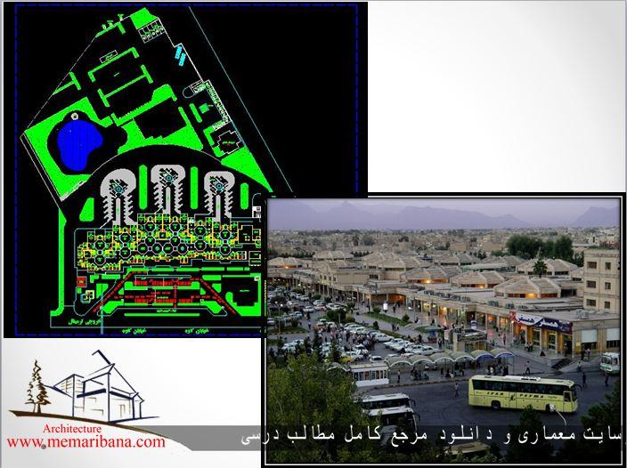 دانلود نقشه اتوکدی ترمینال مسافربری کاوه اصفهان