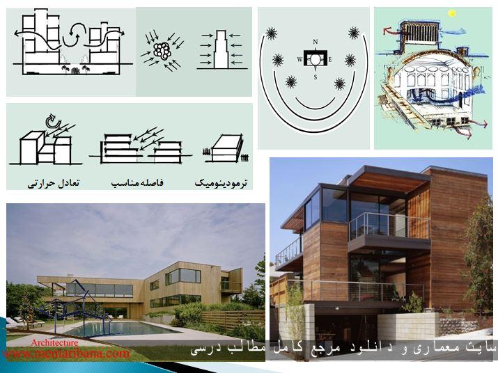 دانلود پاورپوینت نقش معماری در بهینه سازی مصرف انرزی درساختمان