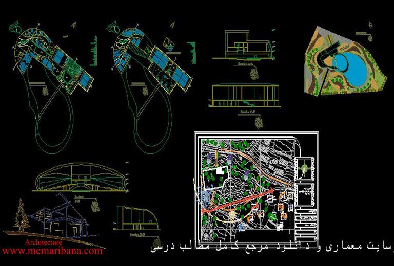 دانلود نقشه اتوکدی مجتمع سینمایی