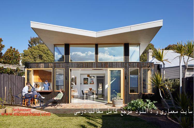 طراحی خانه ایی با سقف زاویه ایی جهت استفاده از نور خورشید در استرالیا