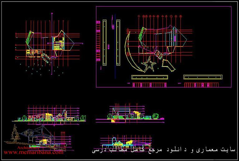 دانلود نقشه اتوکدی موزه فرهنگ و تاریخ