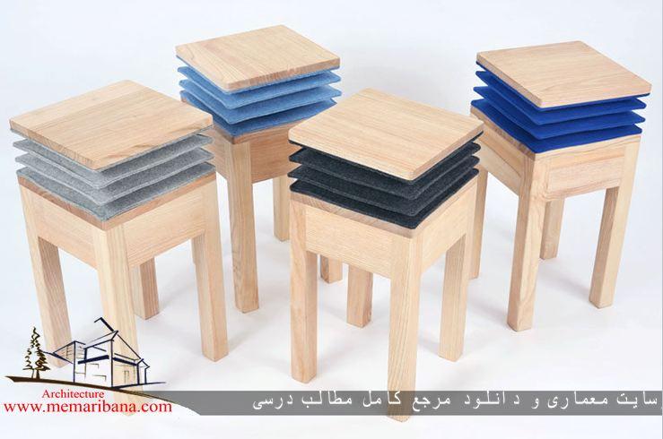 طراحی صندلی آکاردئونی به صورت موزیکال