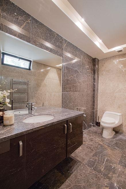 سرویس حمام از جنس سنگ مرمر