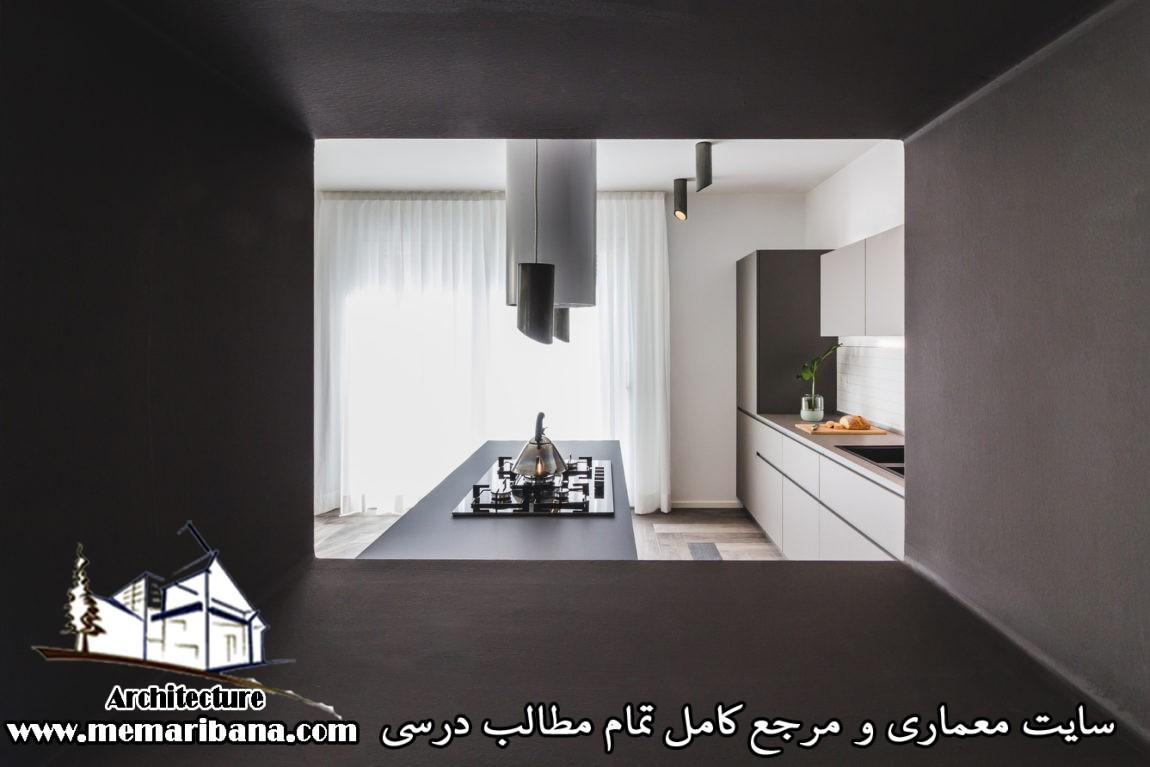 آشپزخانه کوچک و کاربردی