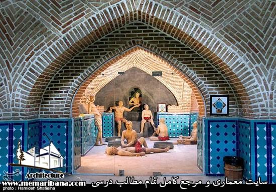 معرفی معماری چند نمونه از حمام های تاریخی معروف در ایران