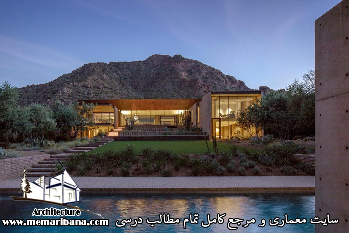 طراحی ویلای مسکونی با دید و منظر شگفت انگیز