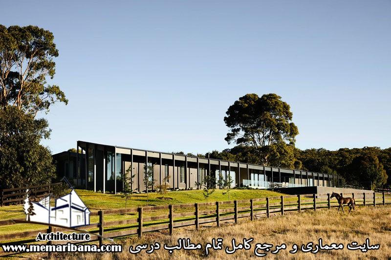 طراحی خانه ایی روستایی در استرالیا با مصالح چوبی