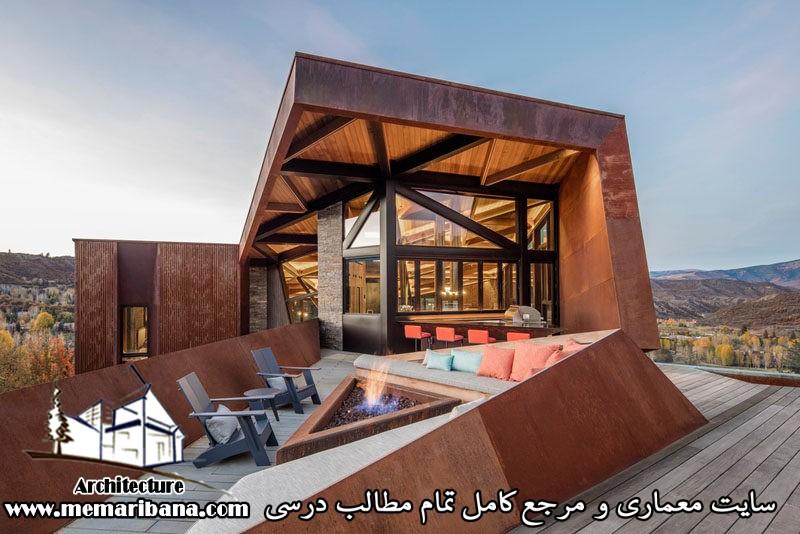 تازه های معماری طراحی خانه ایی در کلرادو با مصالح  فولاد