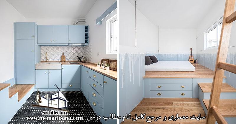 طراحی یک خانه کوچک یک خوابه در پرتغال