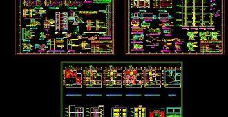دانلود نقشه ساختمان 4 طبقه مسکونی اسکلت فلزی