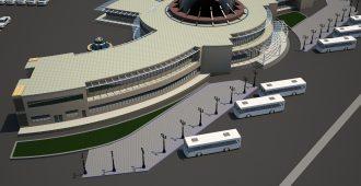 دانلود پروژه کامل طراحی پایانه مسافربری جاده ایی همراه با رندر تریدی مکس