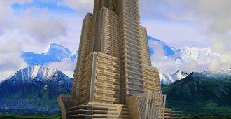 دانلود پروژه اتوکدی طراحی برج مسکونی همراه با رندر تریدی مکس