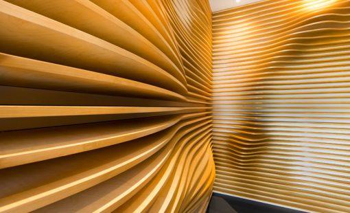 تازه های معماری طراحی خلاقانه لابی رستوران با مصالح آجر