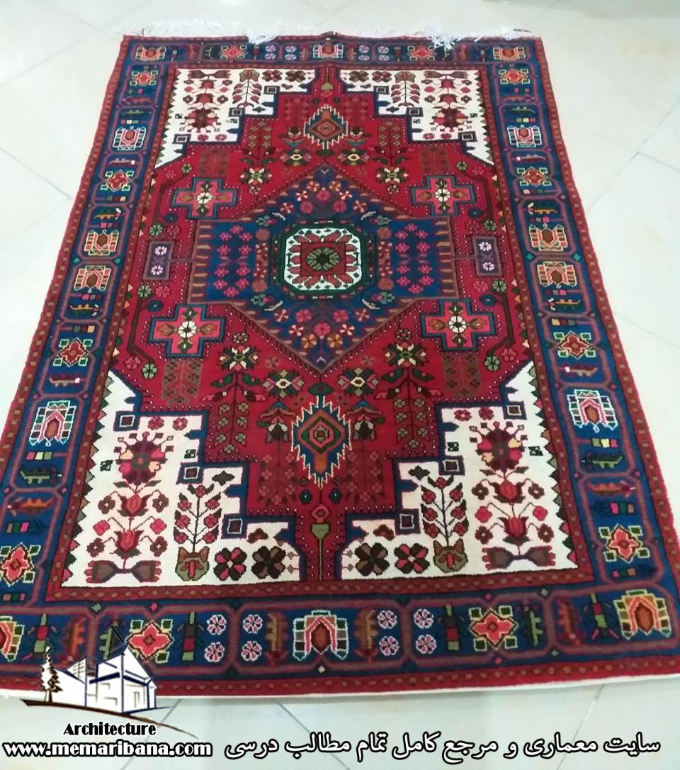 فرش دستبافت دو متری زیبا طرح روستای گرگ حیدر