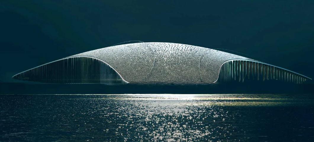 طراحی ساختمانی جذاب به شکل نهنگ در انگلیس