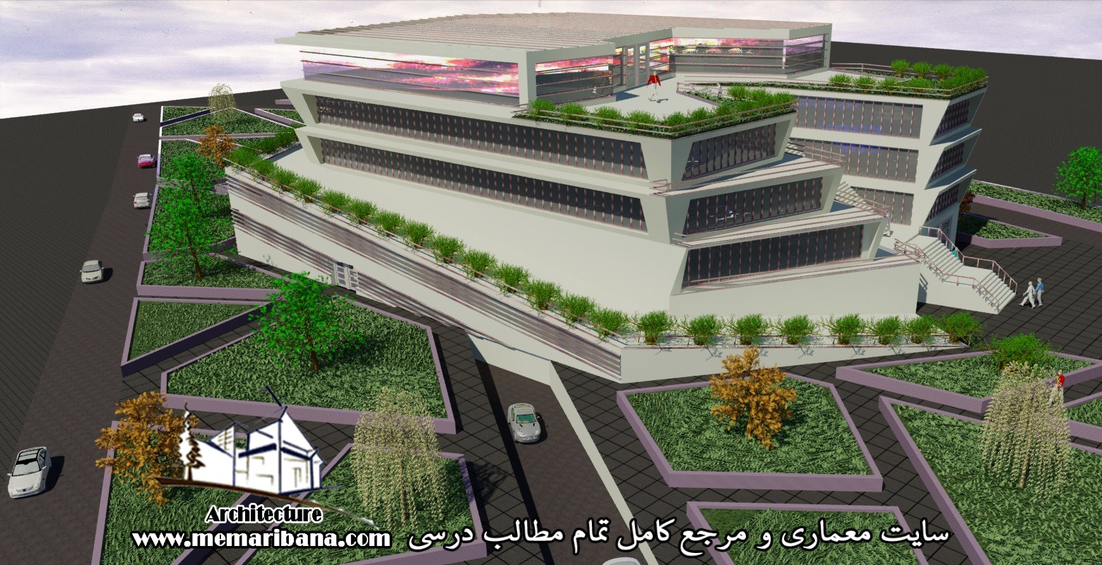دانلود پروژه اتوکدی مرکز تجاری چندمنظوره همراه با حجم سه بعدی