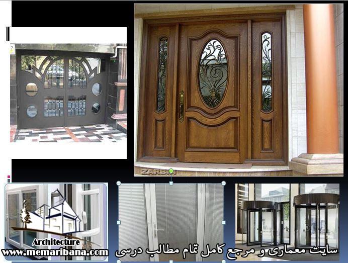 پاورپونیت انواع درب های ساختمان