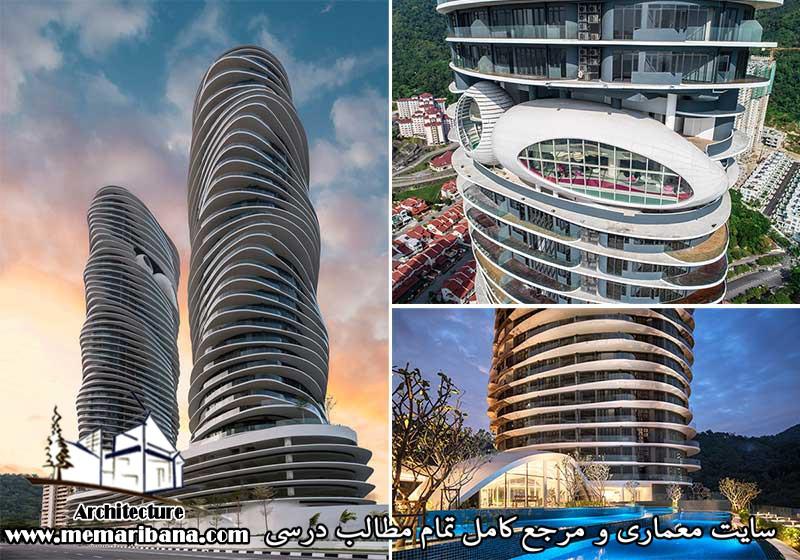 دانلود فایل اتوکدی طراحی برج مسکونی همراه با حجم سه بعدی