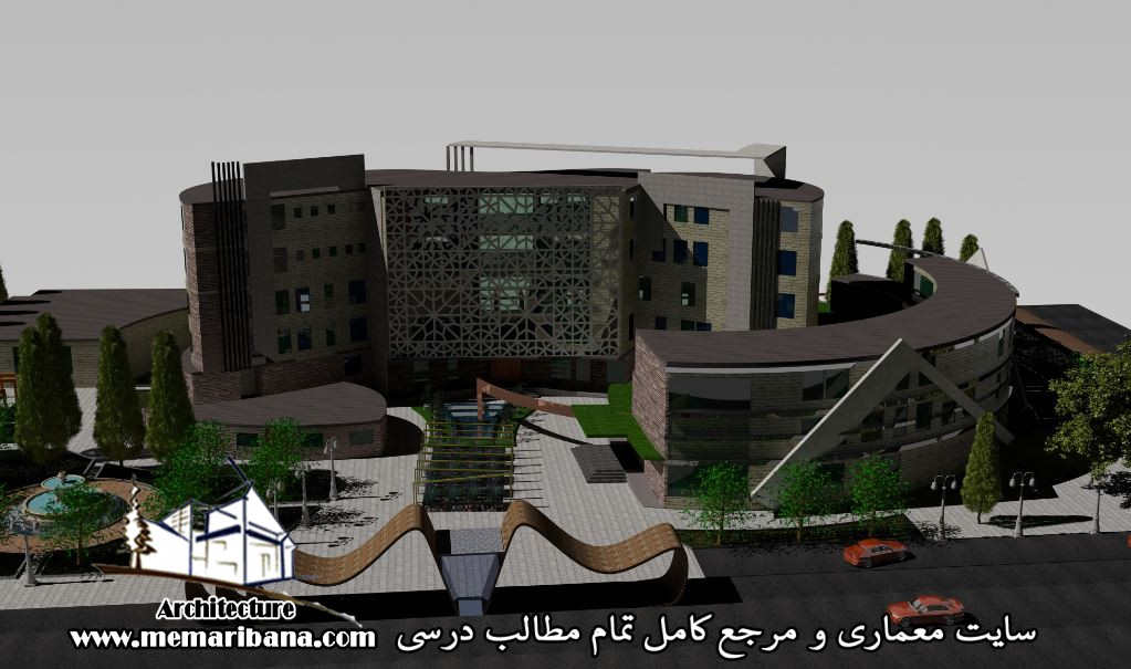 دانلود پروژه بیمارستان (اتوکد،رندر،فایل سه بعدی خام)