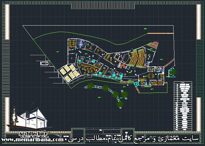 پلان طبقه همکف دانشکده معماری