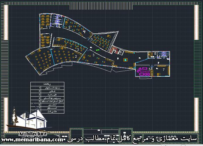 پلان طبقه اول دانشکده معماری