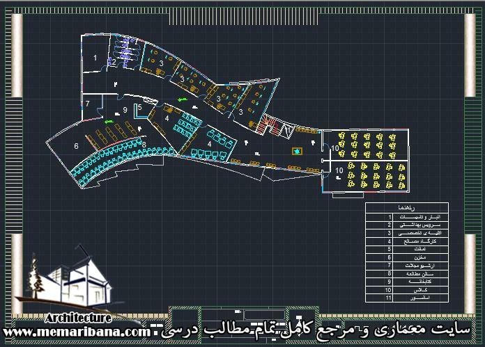 پلان طبقه دوم دانشکده معماری