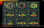 دانلود نقشه کامل اتوکدی طراحی معماری مسجد