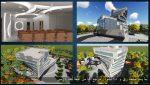 دانلود نقشه کامل طراحی معماری مجتمع اداری همراه با رندر ۳max