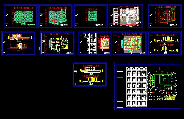 دانلود نقشه معماری کامل بیمارستان نود وشش تختخوابی