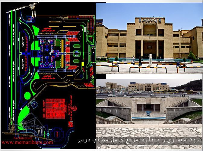 دانلود نقشه اتوکدی ترمینال مسافربری صفه اصفهان