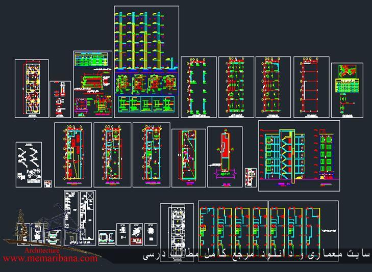 دانلود نقشه کامل ساختمان فلزی همراه با محاسبات دیوار برشی فولادی