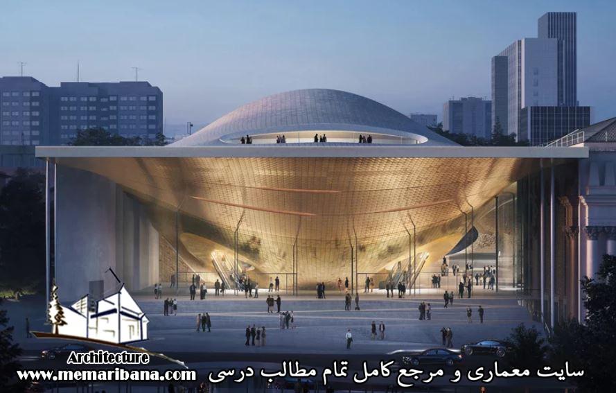 طراحی سالن کنسرت موسیقی جذاب توسط تیم معماری زاحا حدید