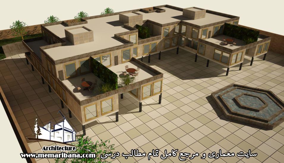 دانلود نقشه اتوکدی مجتمع مسکونی همراه با رندر3MAX