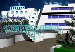 دانلود پروژه اتوکدی طراحی بیمارستان همراه با رندر تریدی مکس
