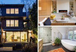 تازه های معماری طراحی خانه ایی در تورنتو را با الگوی معماری معاصر