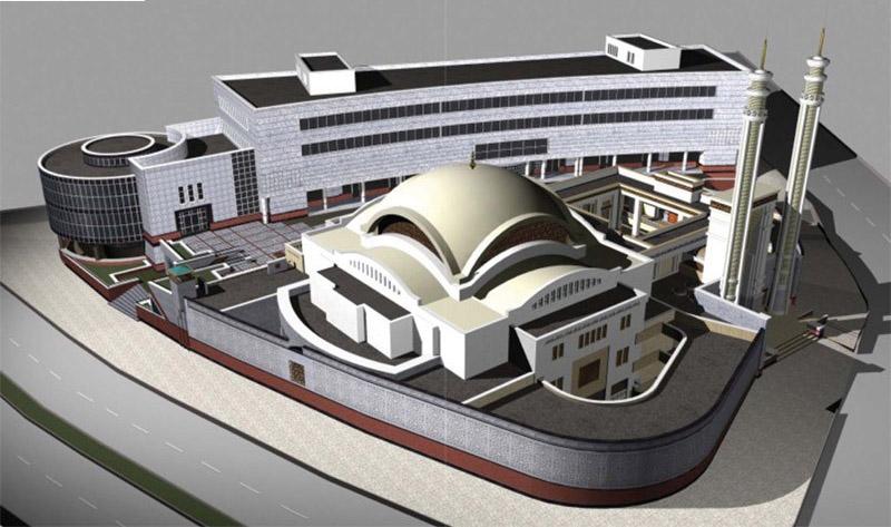 پروژه کامل مسجد همراه با نقشه اتوکدی و رندر