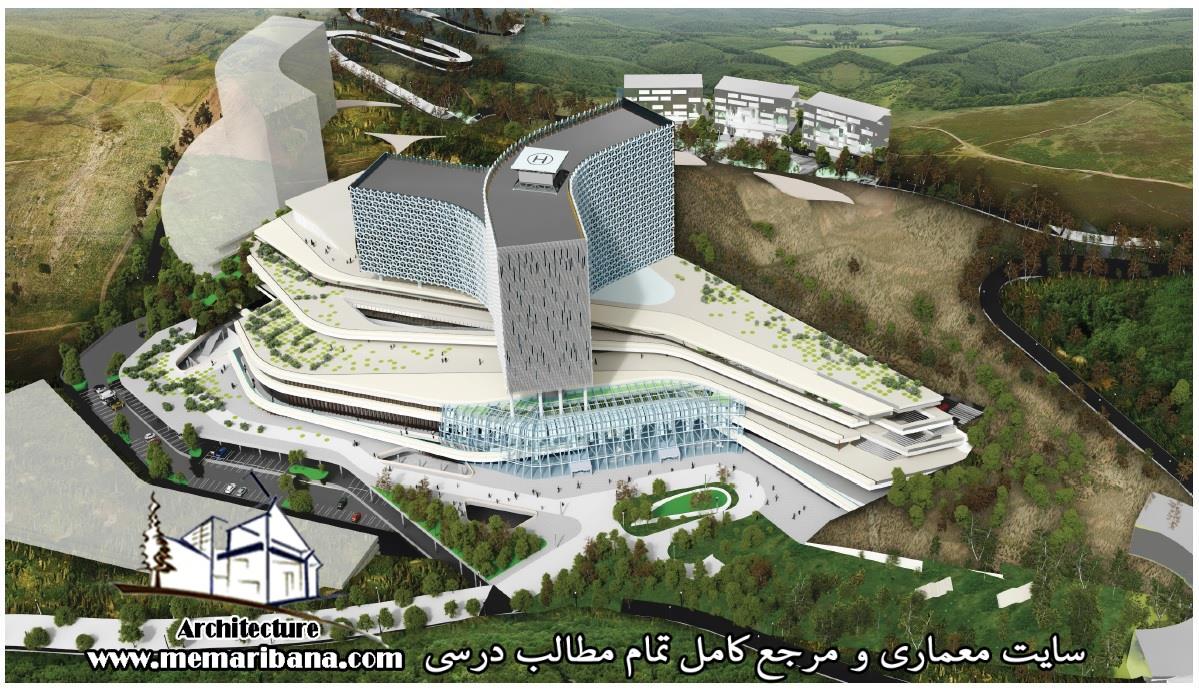 دانلود پلان رایگان طراحی بیمارستان همراه با پرسپکتیو