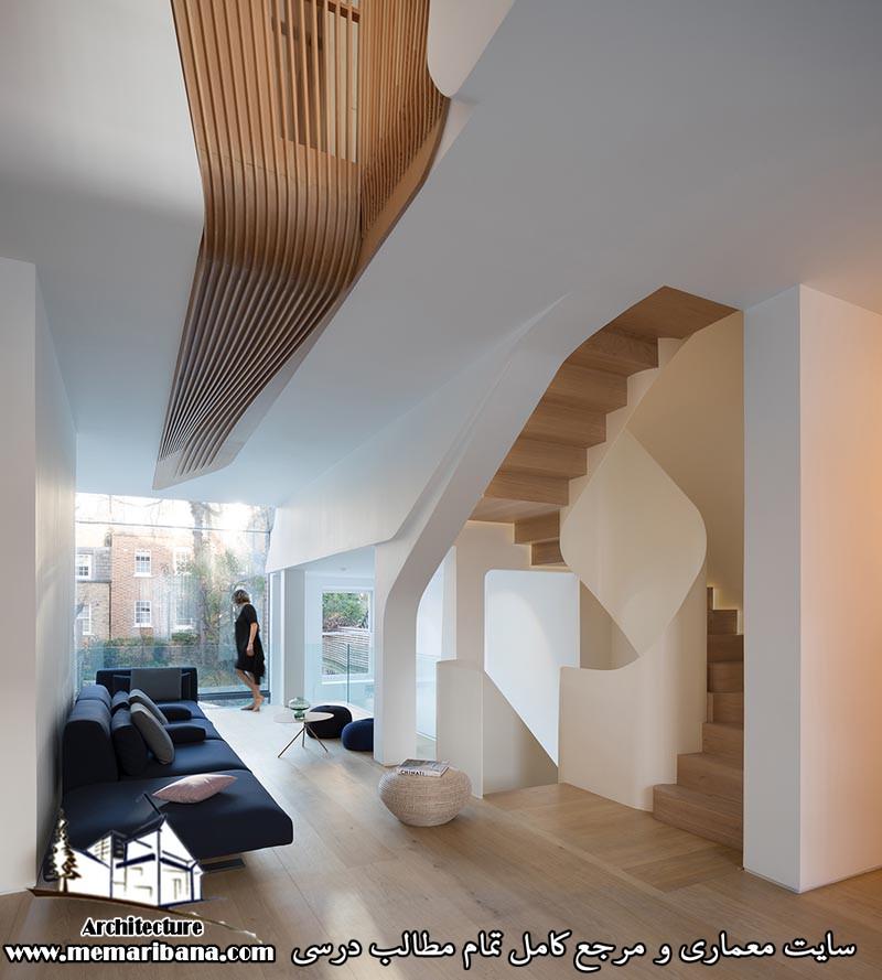 تازه های معماری طراحی خانه ایی با عناصرچوبی در لندن