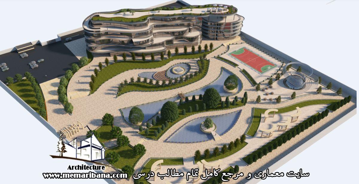 دانلود پروژه مجتمع مسکونی 50 واحدی همراه با رندر تریدی مکس